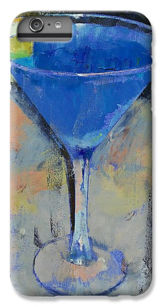 Royal Blue Martini IPhone 6 Plus Case by Michael Creese