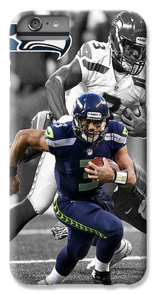 Russell Wilson Seahawks IPhone 6 Plus Case by Joe Hamilton