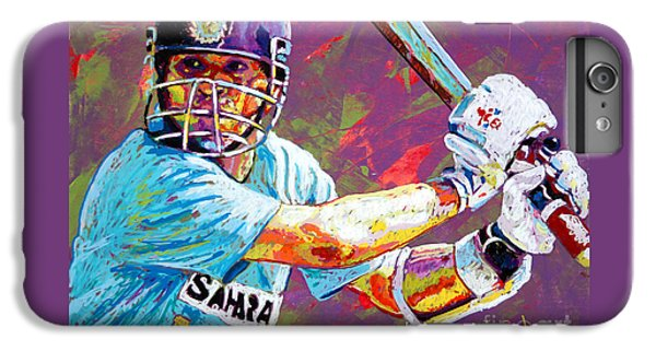 Sachin Tendulkar IPhone 6 Plus Case by Maria Arango