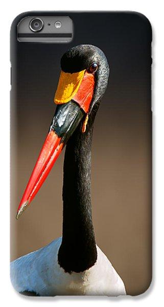 Saddle-billed Stork Portrait IPhone 6 Plus Case by Johan Swanepoel