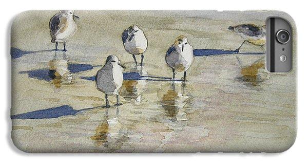 Sandpipers 2 Watercolor 5-13-12 Julianne Felton IPhone 6 Plus Case by Julianne Felton