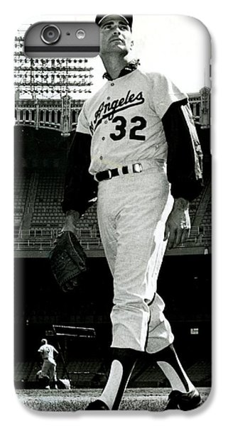 Sandy Koufax Vintage Baseball Poster IPhone 6 Plus Case by Gianfranco Weiss