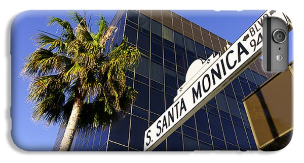 Santa Monica Blvd Sign In Beverly Hills California IPhone 6 Plus Case by Paul Velgos