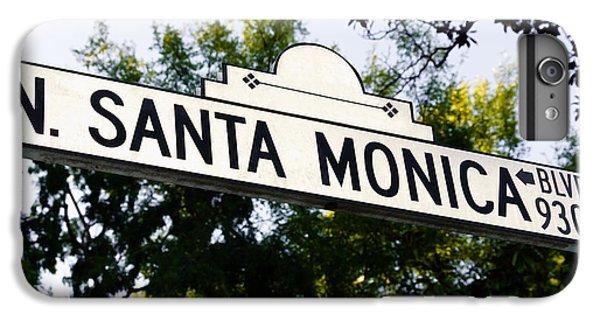 Santa Monica Blvd Street Sign In Beverly Hills IPhone 6 Plus Case by Paul Velgos