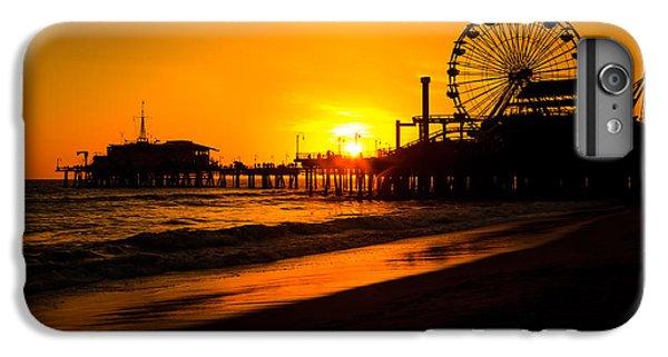 Santa Monica Pier California Sunset Photo IPhone 6 Plus Case by Paul Velgos