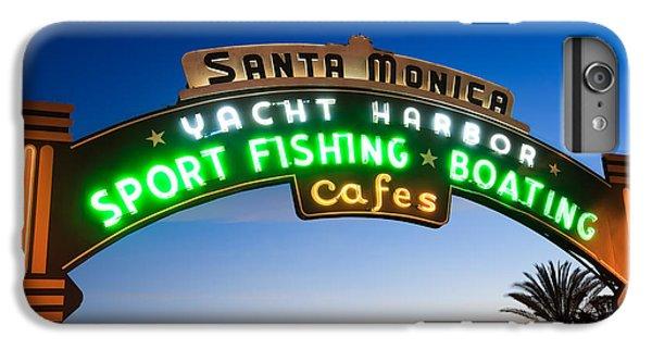 Santa Monica Pier Sign IPhone 6 Plus Case by Paul Velgos