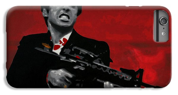 Say Hello To My Little Friend  IPhone 6 Plus Case by Luis Ludzska