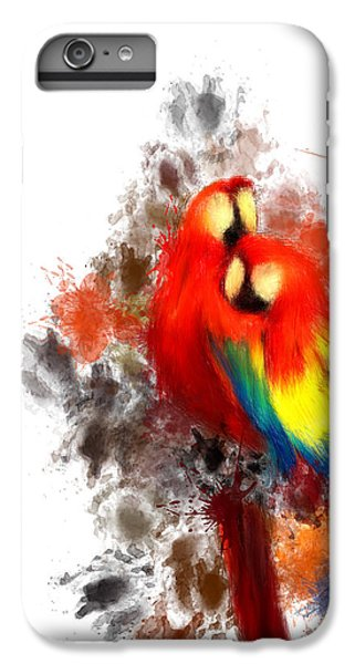 Scarlet Macaw IPhone 6 Plus Case by Lourry Legarde