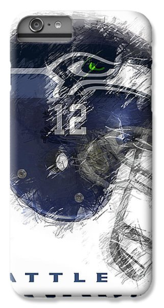 Seahawks 12 IPhone 6 Plus Case by Daniel Hagerman