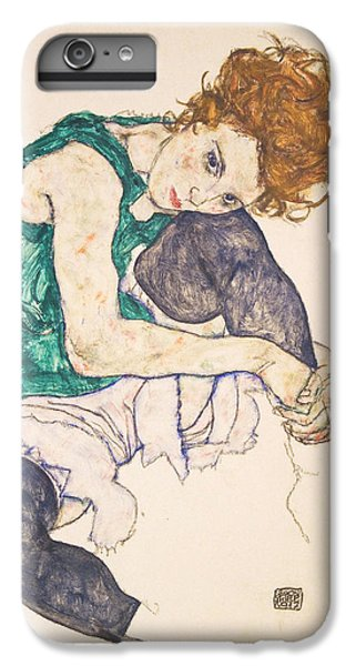 Seated Woman With Legs Drawn Up. Adele Herms IPhone 6 Plus Case by Egon Schiele