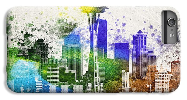Seattle City Skyline IPhone 6 Plus Case by Aged Pixel