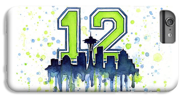 Seattle Seahawks 12th Man Art IPhone 6 Plus Case by Olga Shvartsur
