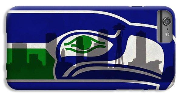 Seattle Seahawks On Seattle Skyline IPhone 6 Plus Case by Dan Sproul