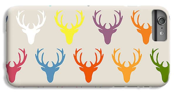 Seaview Simple Deer Heads IPhone 6 Plus Case by Sharon Turner
