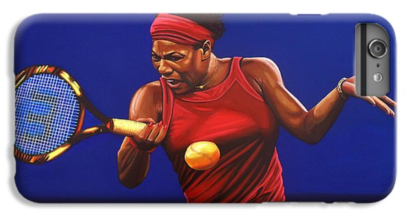 Serena Williams Painting IPhone 6 Plus Case by Paul Meijering