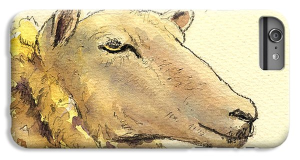 Sheep Head Study IPhone 6 Plus Case by Juan  Bosco