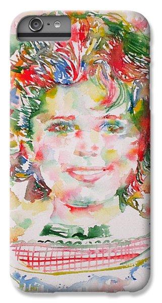 Shirley Temple - Watercolor Portrait.1 IPhone 6 Plus Case by Fabrizio Cassetta