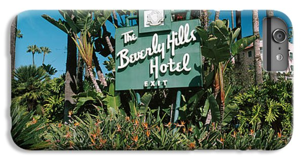 Signboard Of A Hotel, Beverly Hills IPhone 6 Plus Case by Panoramic Images