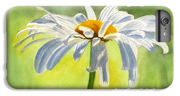 Single White Daisy Blossom IPhone 6 Plus Case by Sharon Freeman