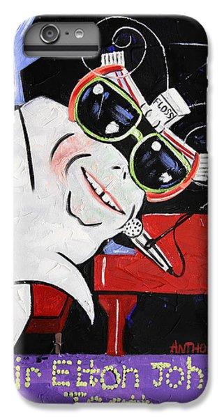 Sir Elton John Tooth  IPhone 6 Plus Case by Anthony Falbo