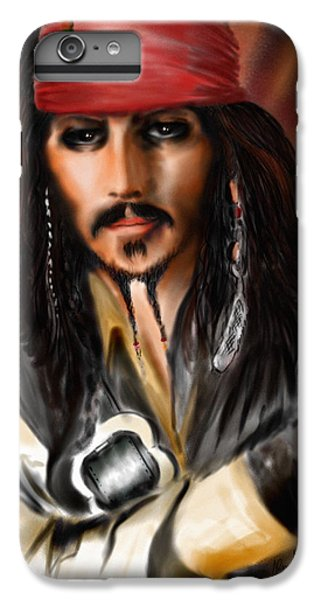 Sketching A Pirate... IPhone 6 Plus Case by Alessandro Della Pietra