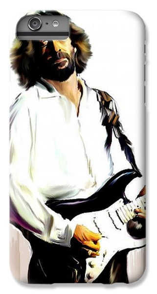 Slow Hand  Eric Clapton IPhone 6 Plus Case by Iconic Images Art Gallery David Pucciarelli