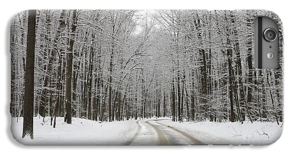 Snowy Road In Oak Openings 7058 IPhone 6 Plus Case by Jack Schultz