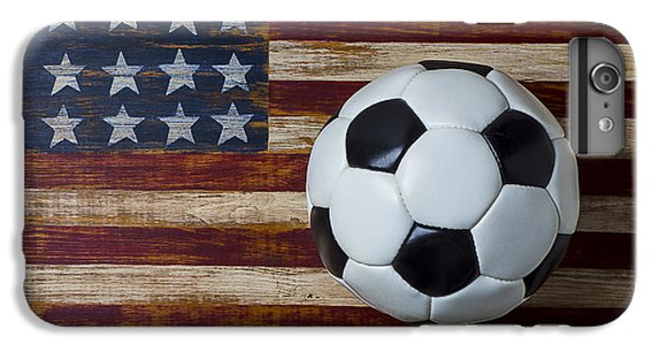 Soccer Ball And Stars And Stripes IPhone 6 Plus Case by Garry Gay