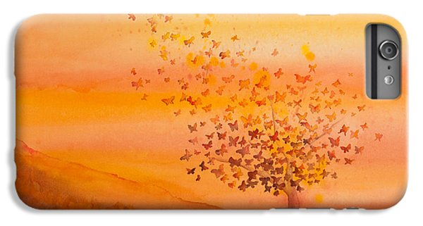 Soul Freedom Watercolor Painting IPhone 6 Plus Case by Michelle Wiarda