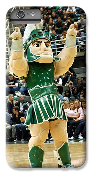 Sparty At Basketball Game  IPhone 6 Plus Case by John McGraw