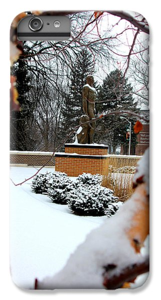 Sparty In The Winter IPhone 6 Plus Case by John McGraw