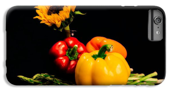 Still Life Peppers Asparagus Sunflower IPhone 6 Plus Case by Jon Woodhams