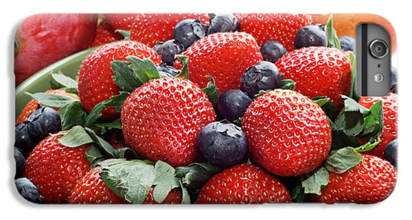 Strawberries Blueberries Mangoes - Fruit - Heart Health IPhone 6 Plus Case by Andee Design