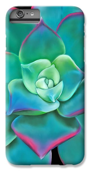 Succulent Aeonium Kiwi IPhone 6 Plus Case by Laura Bell