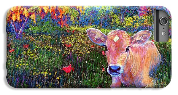 Such A Contented Cow IPhone 6 Plus Case by Jane Small