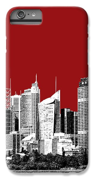 Sydney Skyline 1 - Dark Red IPhone 6 Plus Case by DB Artist