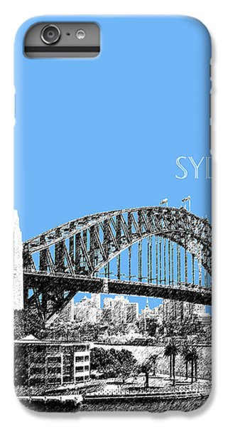Sydney Skyline 2 Harbor Bridge - Light Blue IPhone 6 Plus Case by DB Artist
