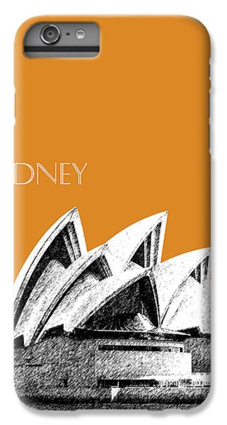 Sydney Skyline 3  Opera House - Dark Orange IPhone 6 Plus Case by DB Artist