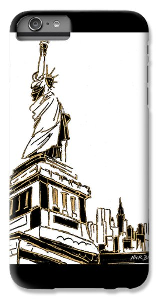 Tenement Liberty IPhone 6 Plus Case by Nicholas Biscardi