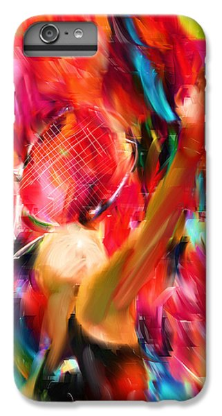 Tennis I IPhone 6 Plus Case by Lourry Legarde