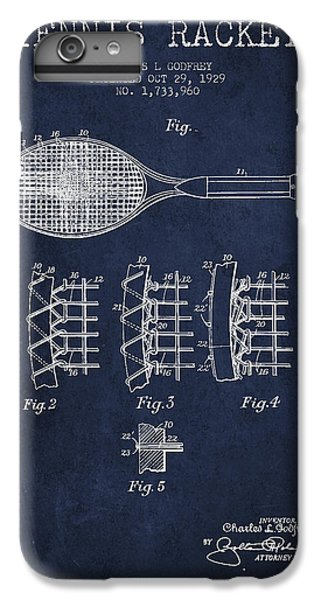 Tennnis Racket Patent Drawing From 1929 IPhone 6 Plus Case by Aged Pixel