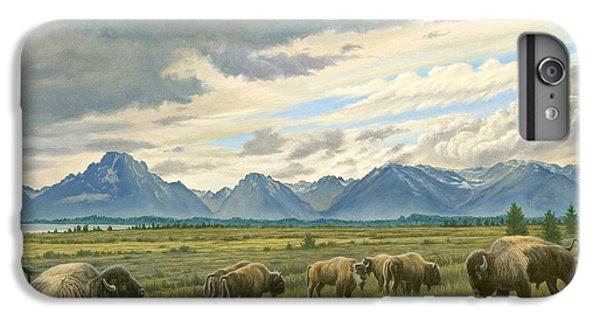 Tetons-buffalo  IPhone 6 Plus Case by Paul Krapf