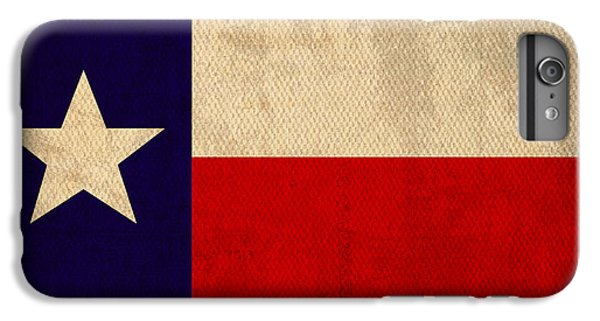 Texas State Flag Lone Star State Art On Worn Canvas IPhone 6 Plus Case by Design Turnpike
