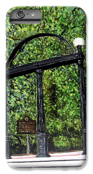 The Arch - University Of Georgia- Painting IPhone 6 Plus Case by Katie Phillips
