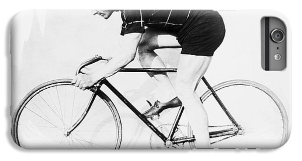 The Bicyclist - 1914 IPhone 6 Plus Case by Daniel Hagerman