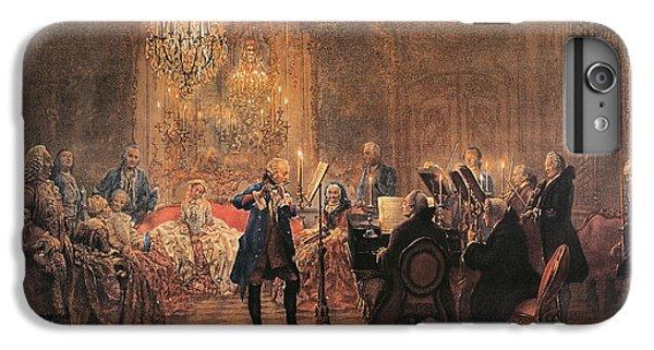 The Flute Concert IPhone 6 Plus Case by Adolph Friedrich Erdmann von Menzel