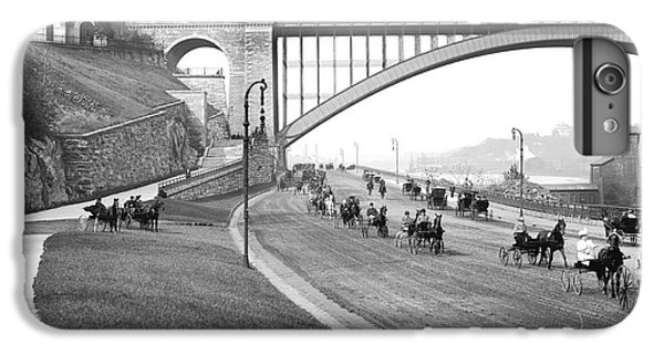 The Harlem River Speedway IPhone 6 Plus Case by Detroit Publishing Company