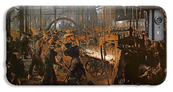 The Iron-rolling Mill Oil On Canvas, 1875 IPhone 6 Plus Case by Adolph Friedrich Erdmann von Menzel