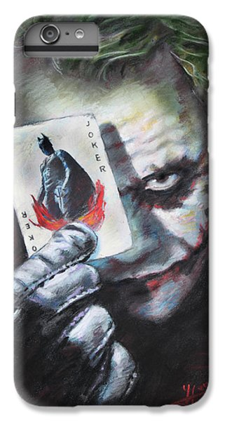 The Joker Heath Ledger  IPhone 6 Plus Case by Viola El