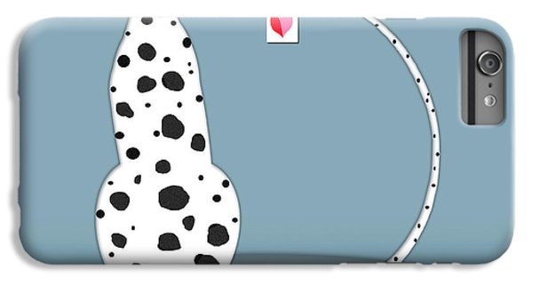 The Letter D For Dalmatian IPhone 6 Plus Case by Valerie Drake Lesiak